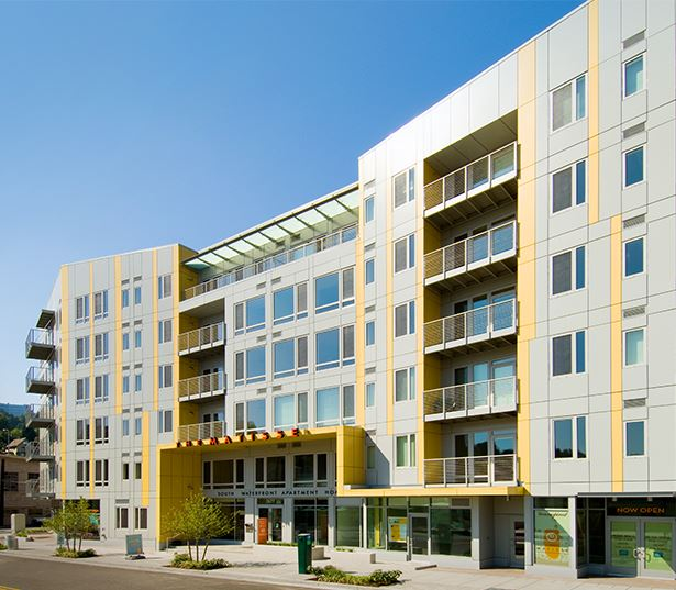 Oregon Health Science University apartments - The Matisse Exterior LEED gold certified building