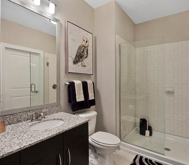 Marshall Park apartments on the Greenway - Modern bathrooms with glass enclosed showers