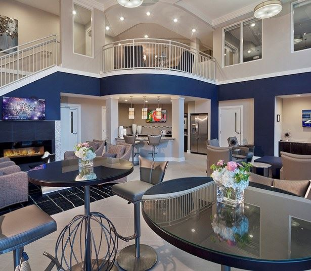 Marshall Park apartments in raleigh nc - Clubhouse with entertaining kitchen and Wi-Fi lounge