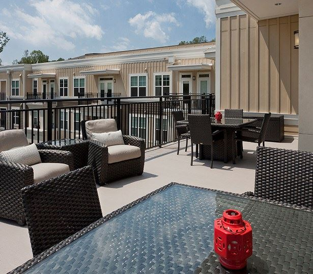 Marshall Park apartments for rent in Raleigh, NC - Sky Lounge with outdoor seating