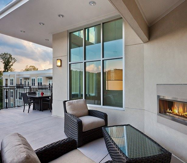 North Hills Apartments for rent in Raleigh, NC - Marshall Park Sky lounge and fireplace