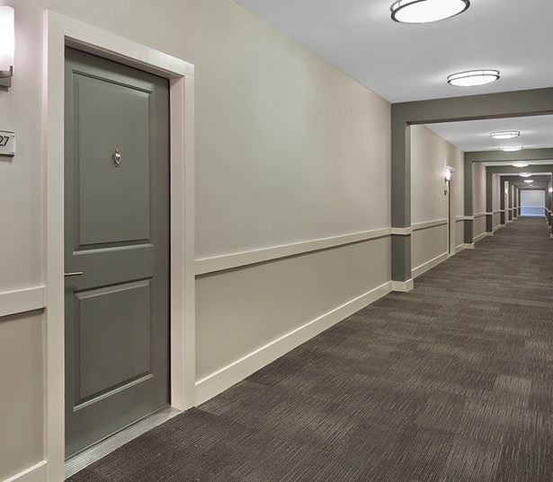 Marshall Park apartments for rent in Downtown Raleigh - Large open hallways inside building