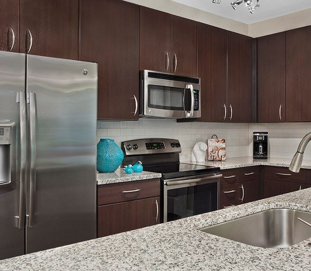 Raleigh, NC Apartments for rent -  Marshall Park Fully equipped kitchen with granite countertops
