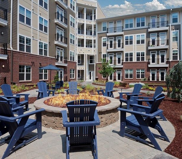 Downtown Raleigh Apartments for rent in North Hills - Marshall Park Outdoor fire pit