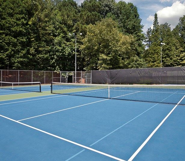 Greenway Trail Apartments in Raleigh - Marshall Park Tennis court within walking distance