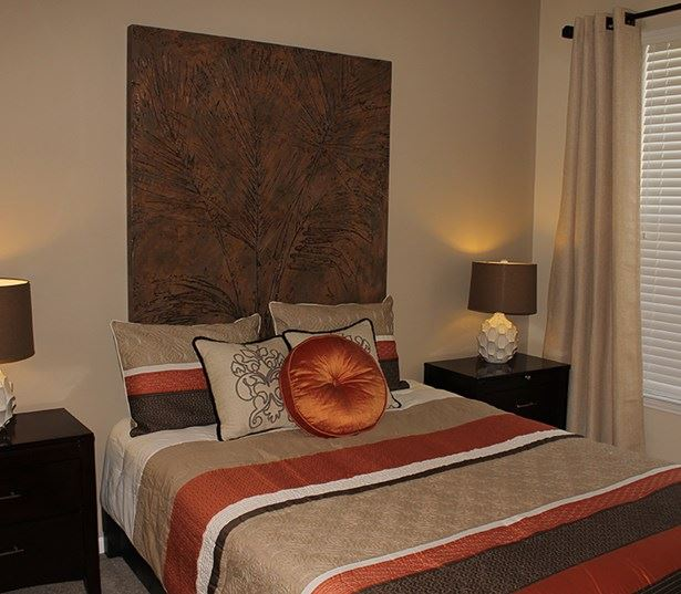 The Madison Bedrooms can accommodate any size bed with end tables Richmond VA - Henrico