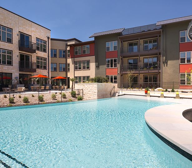 apartments in The Domain austin tx - Addison at Kramer Station Resort Style Swimming
