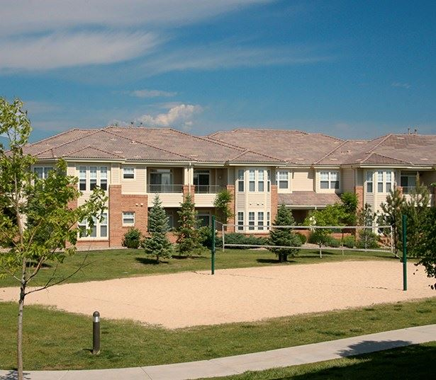 Ridgegate apartments for rent in Parker - The Meadows At Meridian offers sand volleyball court