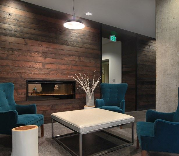 Bellevue Collection apartments near Bungie - Metro 112 Resident lounge with dual fireplace