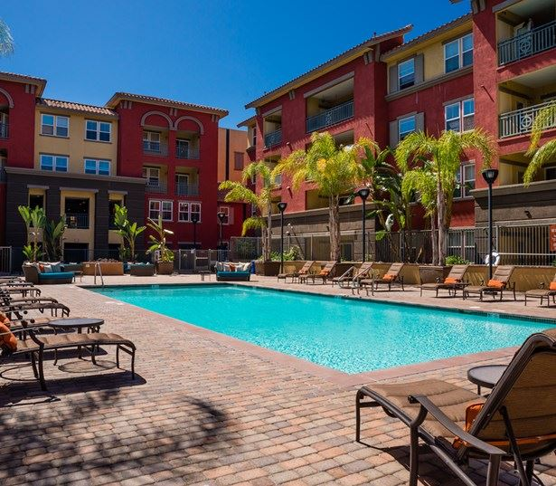 Clairemont apartments for rent in San Diego - Mira Bella Large saltwater swimming pool