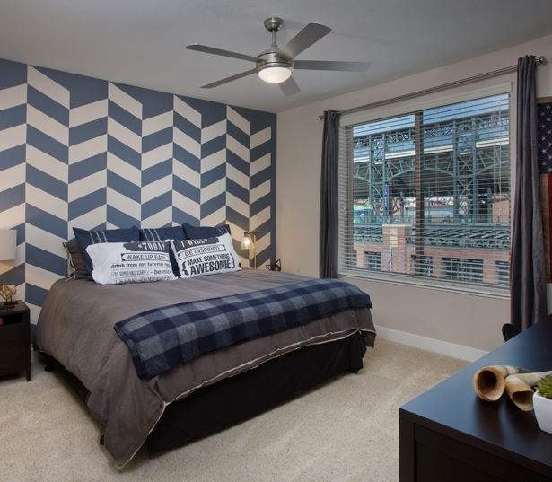 The Battery on Blake Street model bedroom - Apartments and Penthouses in Denver, CO