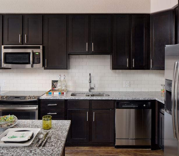 The Battery on Blake Street model kitchen - For Rent in LoDo Denver