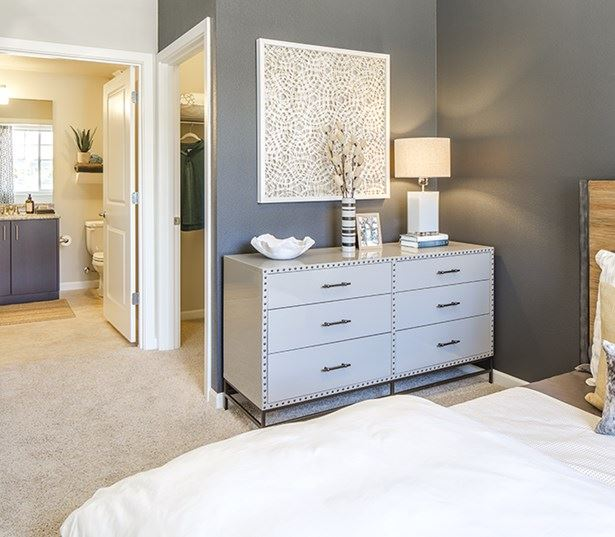 Beaverton OR Apartments For Rent near Nike - Victory Flats Spacious master bedroom model interior
