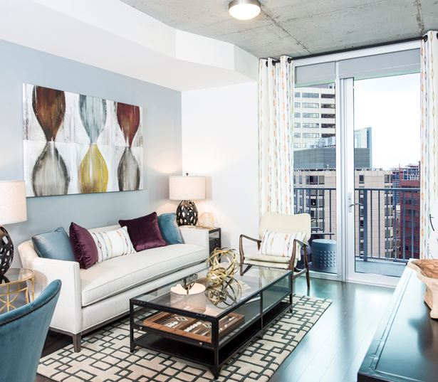 Apartments for rent in Downtown Denver - SkyHouse Denver private balcony