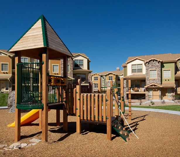 Cherry Creek School District apartments - The Sanctuary At Tallyn's Reach outdoor playground