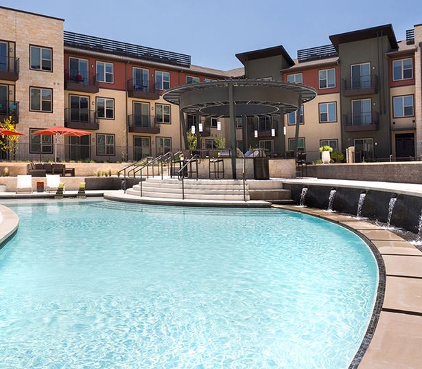 Austin apartments for rent near IBM - Addison at Kramer Station Lap Pool and Tanning Shelf