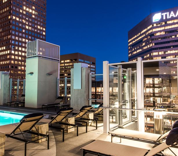 Central Business District apartments for rent in Denver - SkyHouse Denver skyline views