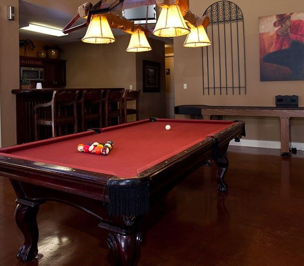 Cedar Park apartments for rent - The Ranch Apartments Resident lounge with billiards table