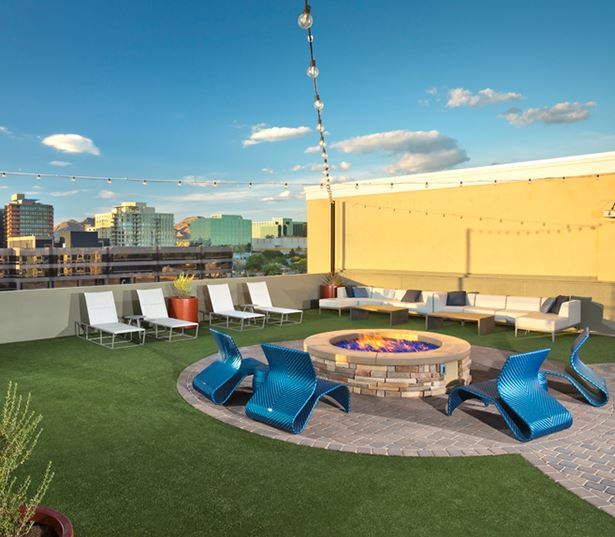 Luxury apartments phoenix - District at Biltmore rooftop lounge with views