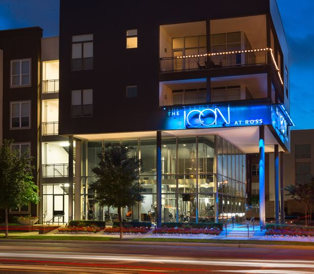 The Icon at Ross Apartments - exterior building - Dallas Arts District Apartments