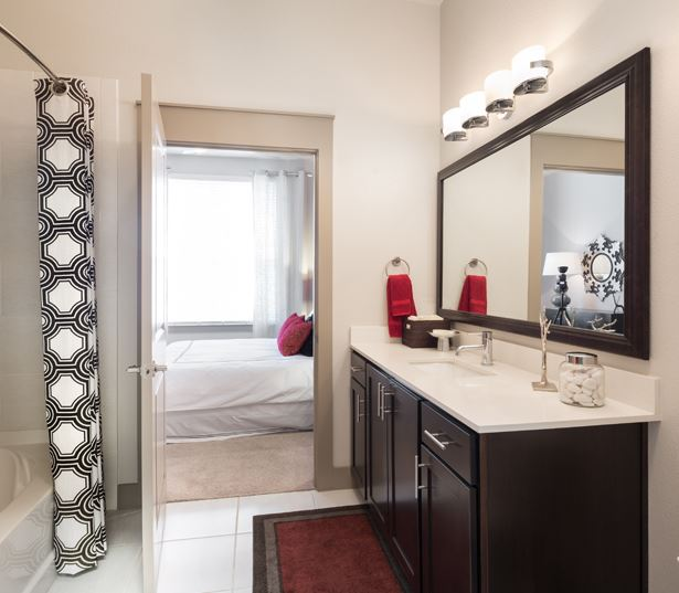 The Icon at Ross offers upscale baths - Apartments near Baylor Medical Center Dallas