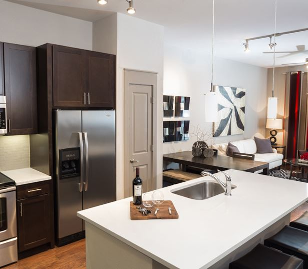 The Icon at Ross offers stainless steel appliances - Dallas Arts District Apartments