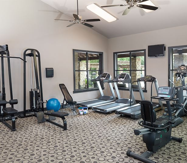 South Austin apartments in Austin ISD - Ridgeview Cardio machines and free weights