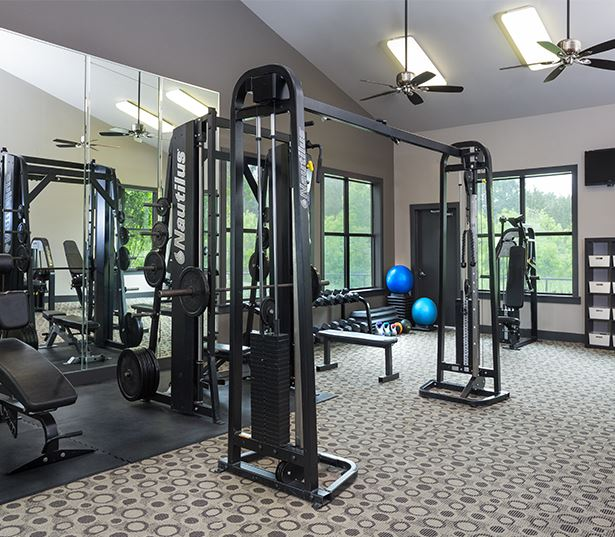 Southwest Austin apartments for rent near Accenture - Ridgeview Fully equipped fitness center