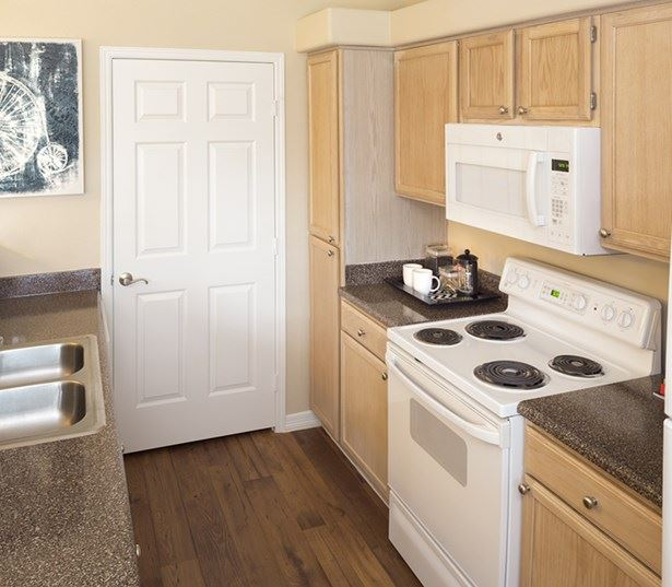 Villas at Stonebridge Ranch - Modern kitchen - McKinney ISD Apartments