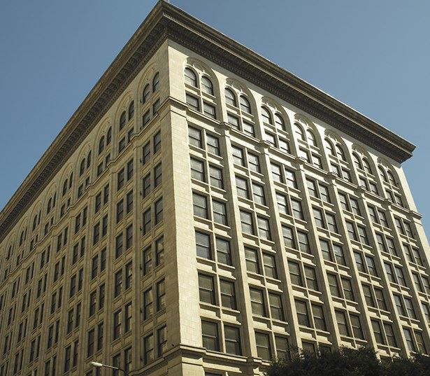 Grand Central Market apartments for rent in LA - Lofts At Security Building Historic Exterior View