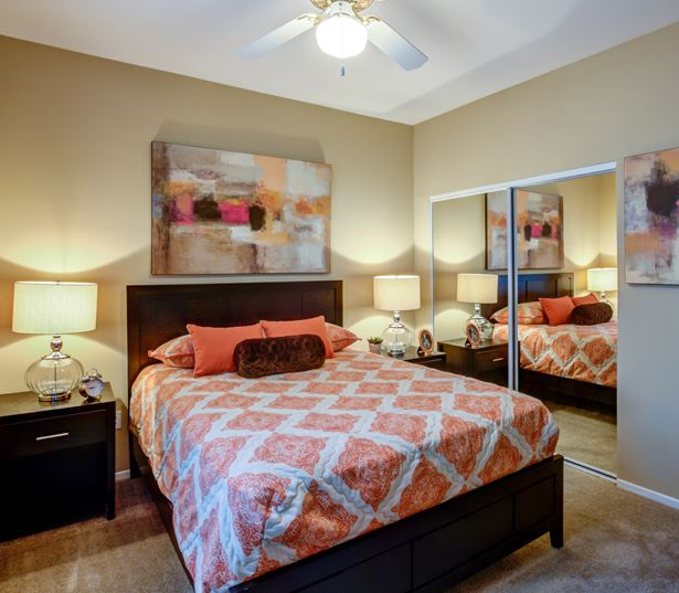 North Scottsdale apartments for rent near GoDaddy - San Carlos Bedrooms with ceiling fans