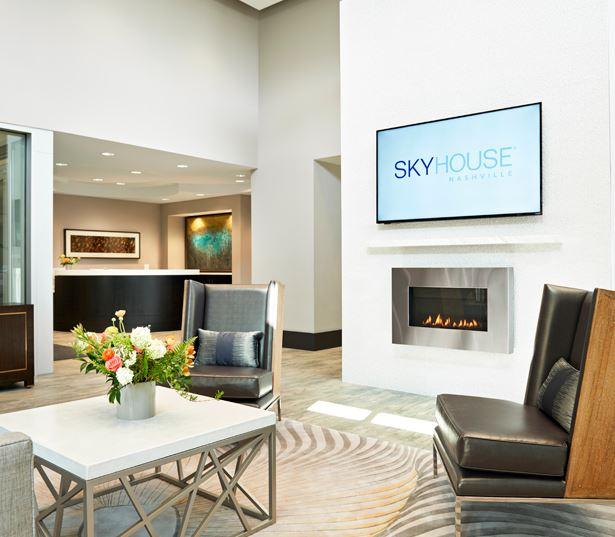 SkyHouse Nashville grand lobby Nashville TN - West End