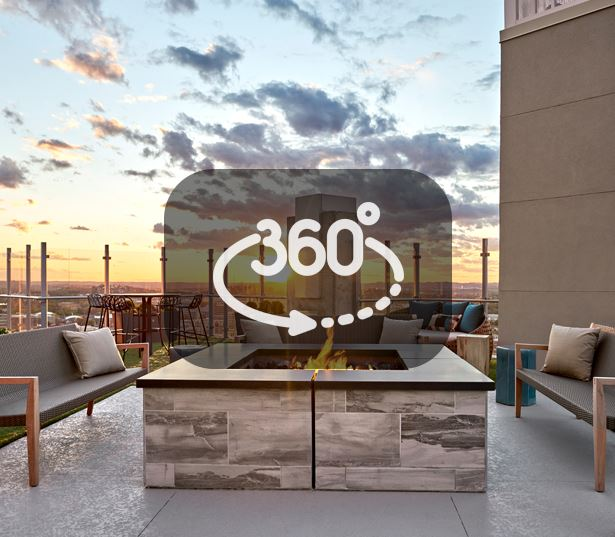 Music Row Apartments in Nashville - SkyHouse Nashville - SkyDeck firepit