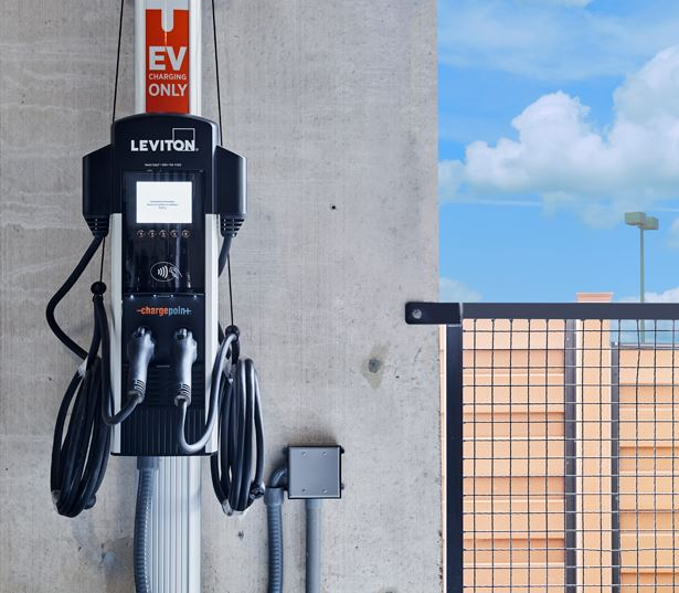 SkyHouse Nashville parking garage with car charging stations Nashville TN - Midtown Downtown