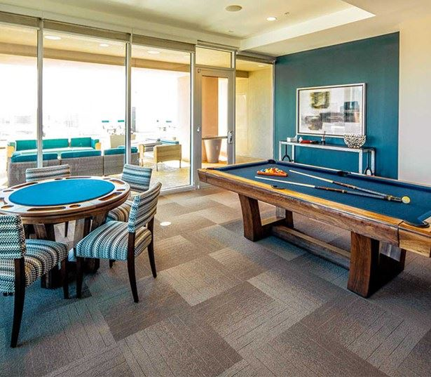 SkyHouse Dallas - Community game room - Victory Park Dallas Apartments