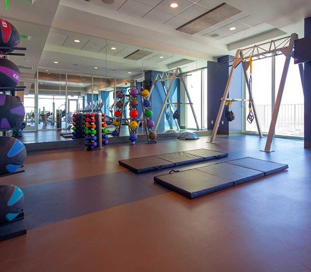 SkyHouse Dallas - TRX training room - Downtown Dallas Apartments