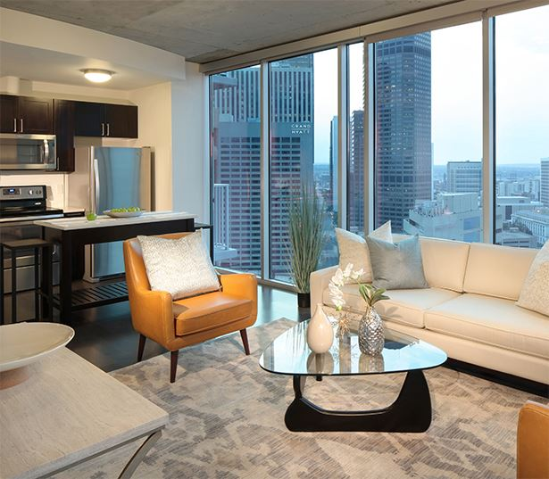 Apartments for rent in the Central Business District - SkyHouse Denver Beautiful downtown views