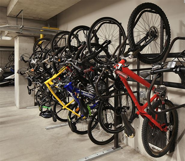 Uptown apartments for rent in Denver, Colorado - SkyHouse Denver Expansive bike storage