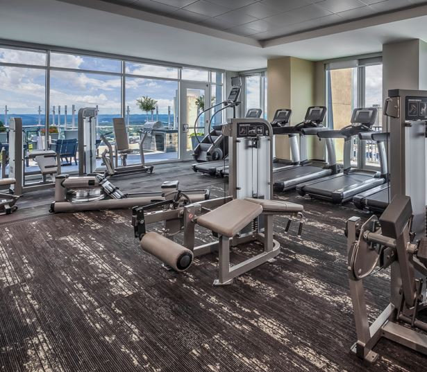 SkyHouse Nashville fitness center Nashville TN - Midtown - Downtown