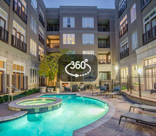 Speer Boulevard apartments in Denver - The Boulevard Apartments Heated pool and spa