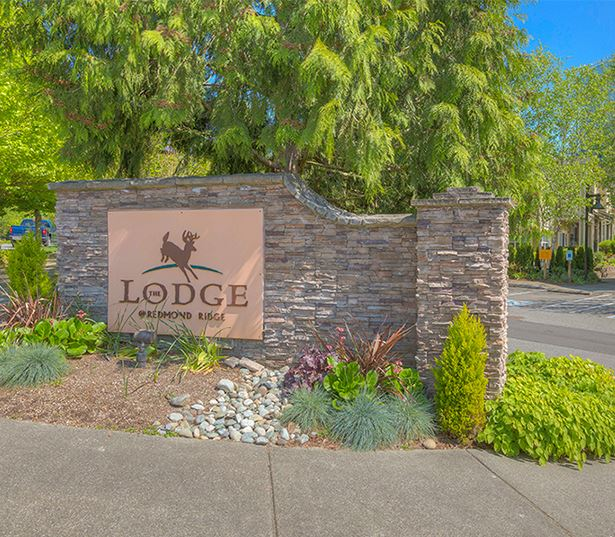 The Lodge at Redmond Ridge apartments near Novelty Hill Road - Entry monument