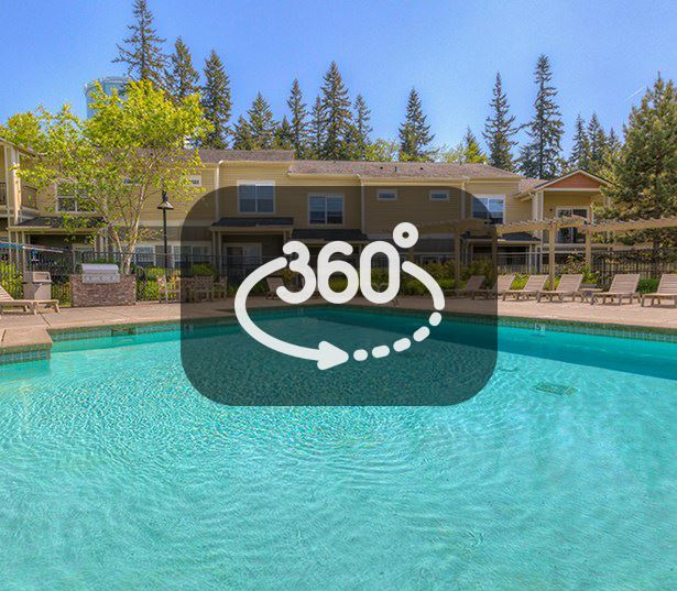 The Lodge at Redmond Ridge apartments in Downtown Redmond - Large pool and sundeck