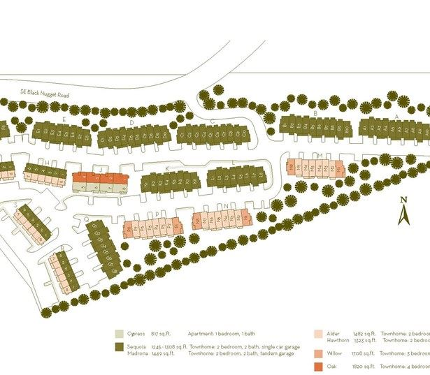 Apartments in Issaquah WA near Microsoft - The Timbers at Issaquah Ridge Community site plan map