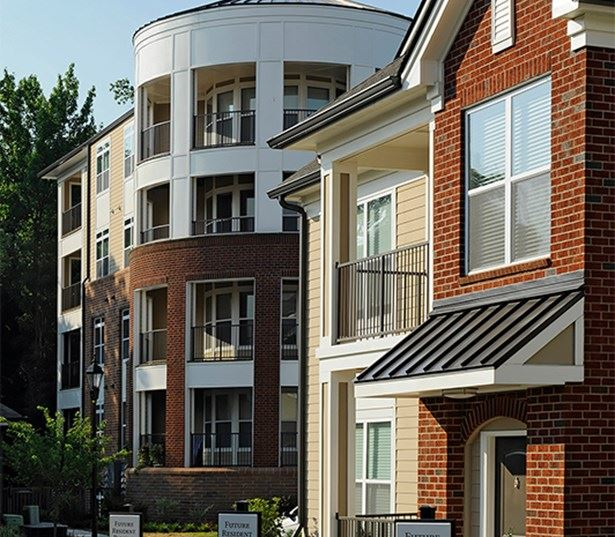 Ayrsley townhomes near Whitewater Center - Gramercy Square at Ayrsley - private entrances