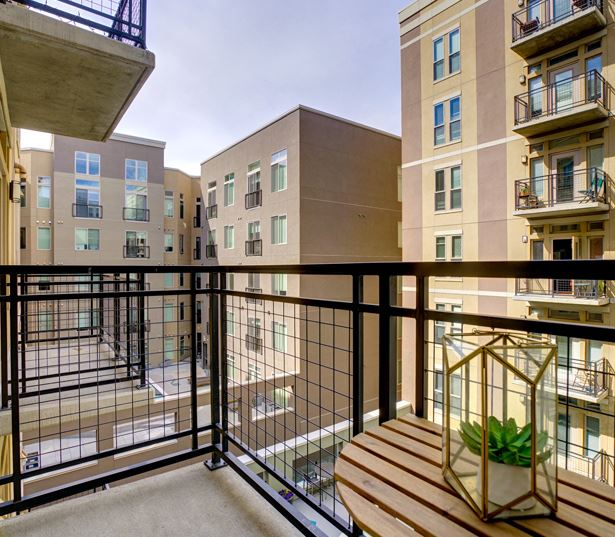 TwentyOne01 on Market Apartments - balcony - Apartments in Ballpark Denver, CO