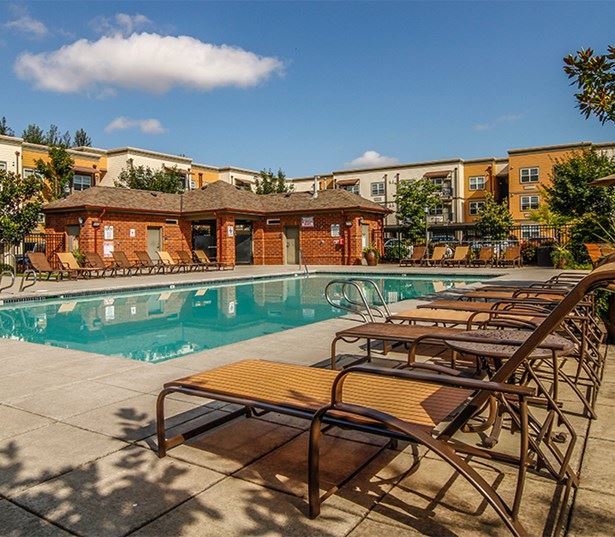 Nexus apartments in Hillsboro OR near Nike - Sparkling swimming pool and year round spa