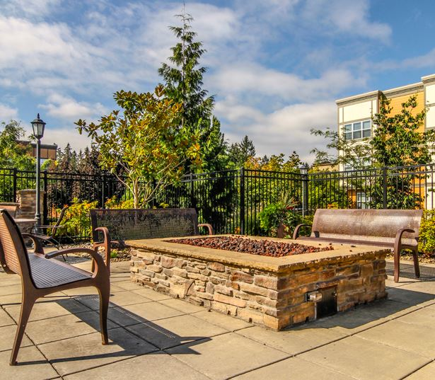 Hillsboro Apartments for Rent near Intel - Nexus at Orenco Station - Firepit