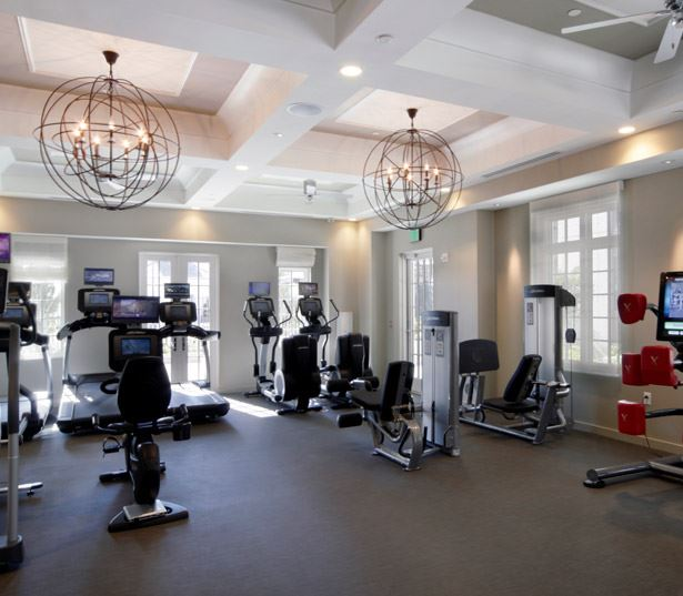 Lenox apartments for rent in Midtown near CBRE - The Residence Buckhead Atlanta fitness center