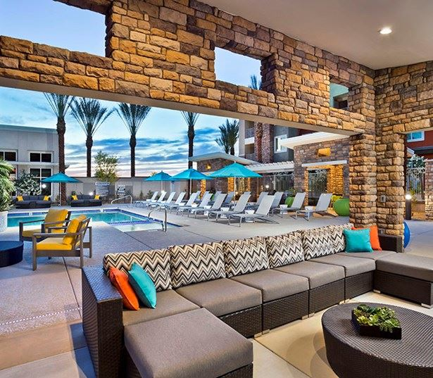 Avion on Legacy apartments in DC Ranch, AZ - Beautiful outdoor and covered lounge area
