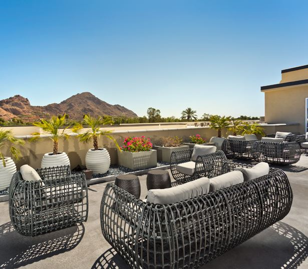 Arcadia apartments in Phoenix - Citrine Rooftop terrace